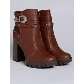 Bota Ankle Boot Feminina Marrom 33
