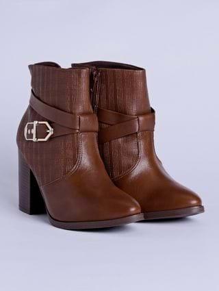 Bota Ankle Boot Feminina Ramarim Marrom