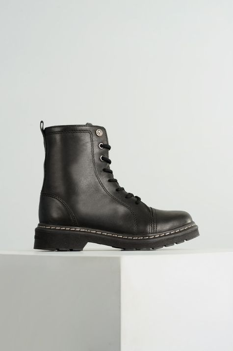 Bota Coturno Gracy Cravo e Canela CR-PRETO 35