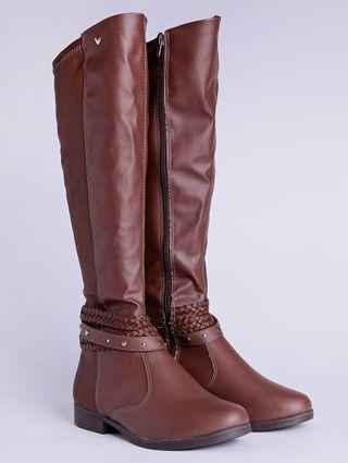 Bota de Montaria Over The Knee Feminina Marrom