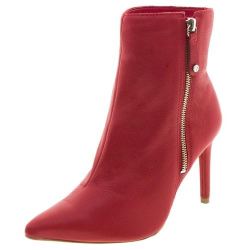 Bota Feminina Cano Baixo Vermelha Tanara - T2281