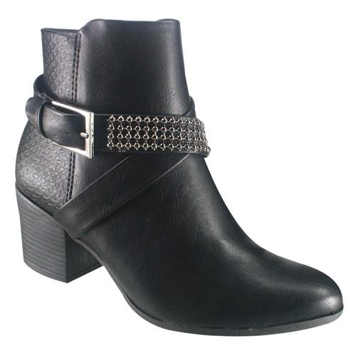 Bota Feminina Ramarim Ankle Boot 18-64101 000010 1864101000010