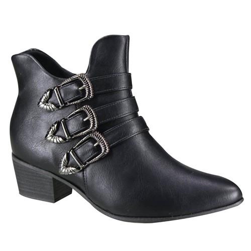 Bota Feminina Ramarim Ankle Boot 19-59104 000001 1959104000001