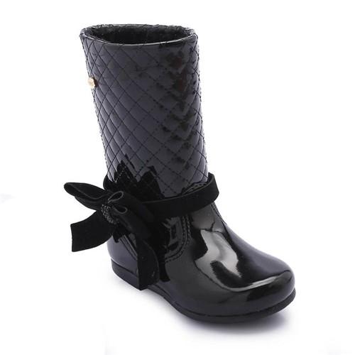 Bota Klin Miss Fashion Verniz Preta 168.026000-000002