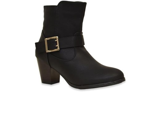 Bota Mooncity Ankle Boot Preto