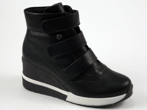 Bota Sneaker Feminina Quiz Flatform Napa Preta 67-37928 67-37928 6737928
