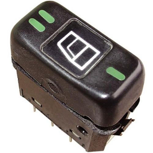 Botão Acionamento Vidro Simples 24 V Preta - Un90342 Caminhões