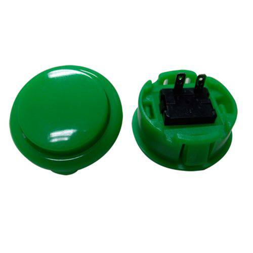 Botão Arcade Fliperama Tipo Sanwa (conector 2.8mm) - Verde