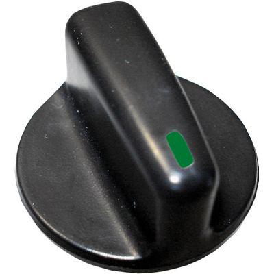 Botão de Painel Gol/Par/Sav G3 Preto Curto Ar (Pç) (Autoplast) Led Verde 60130.13 (AP117)