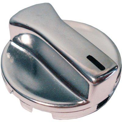 Botão de Painel Gol/Parati/Saveiro Bola Cromado Ar (Pç) (Autoplast) Led Branco 60129.05 (AP05)