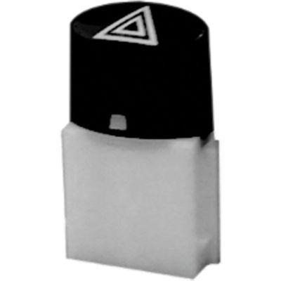 Botão de Painel Uno 11/15 Fiorino 14/ Pisca Alerta S/Molas (Autoplast) Preto 60656.83 (AP792)