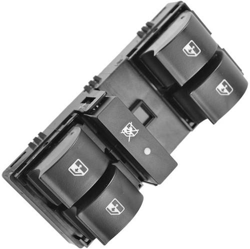 Botão do Vidro Quádr com Bloqueio Lado Esquerdo G1 - Un90705 Idea /punto /palio /