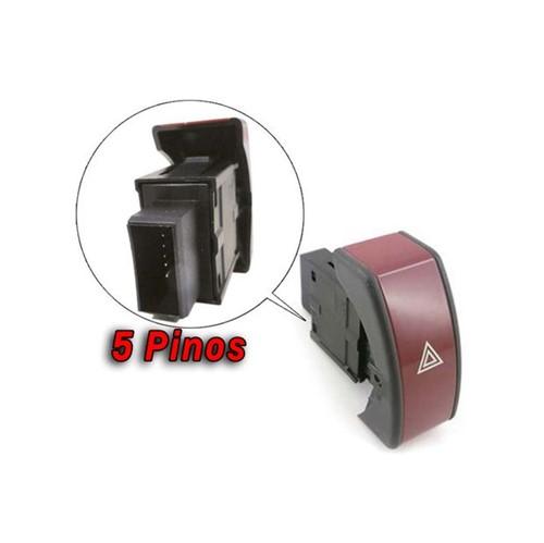 Botão Interruptor do Pisca Alerta Central Painel com Módulo BCM Também Corsa Novo 2002 a 2005