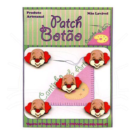 Botão Patch Palhaço Vermelho 1418 - 5 Unid