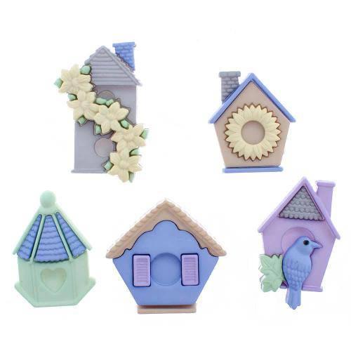 Botões para Apliques Casas de Passarinhos Diu7695 - Toke e Crie