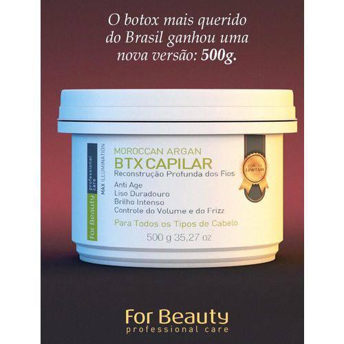 Botox Capilar Max Illumination Alisante For Beauty 500g - Edição Limitada