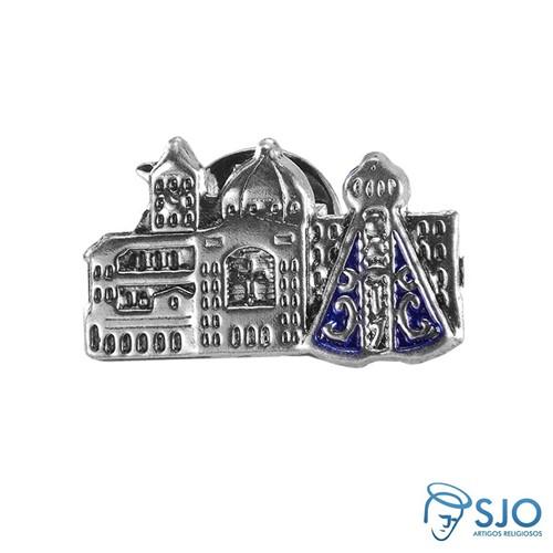 Botton Basílica Aparecida Níquel | SJO Artigos Religiosos