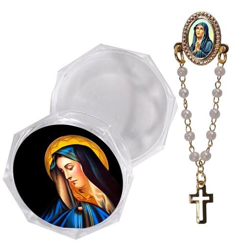 Botton com Embalagem Italiana - Nossa Senhora das Dores | SJO Artigos Religiosos