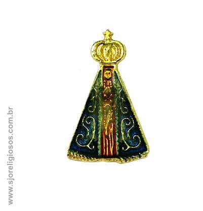 Botton Nossa Senhora Aparecida Grande - 2,5 Cm | SJO Artigos Religiosos