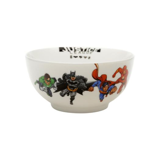 Bowl de Porcelana Justice League Heroes Branco 41637 New Urban