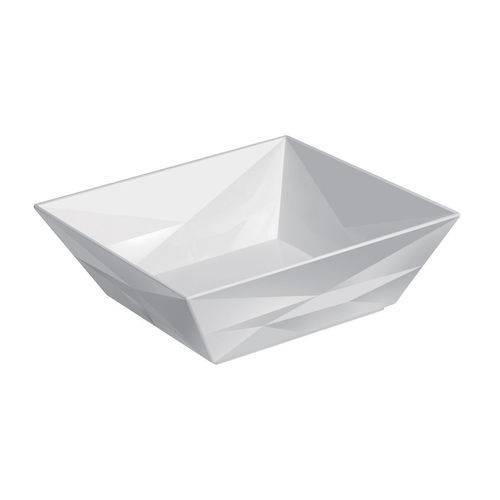 Bowl Diamond em Melamina Gourmet Mix 22,1x22,1cm Branco
