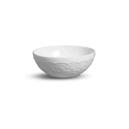 Bowl em Cerâmica Branco Madeleine 20,5cm