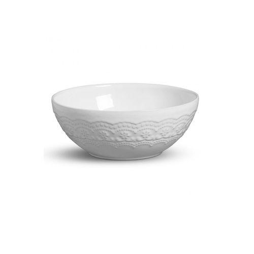 Bowl em Cerâmica Branco Madeleine 24cm
