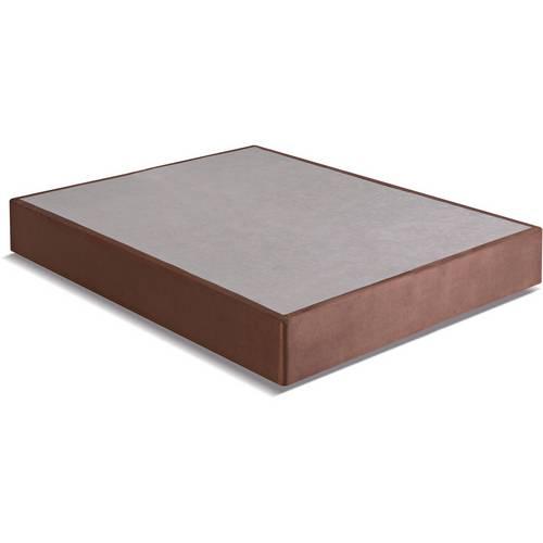 Box Casal 138x188x25 Suede com Pé Invisível Marrom Kappesberg