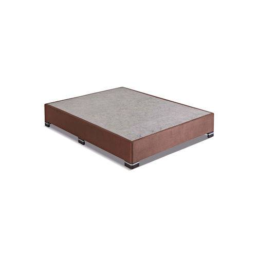 Box Casal 138X188X25 Suede Marrom Kappesberg Marrom