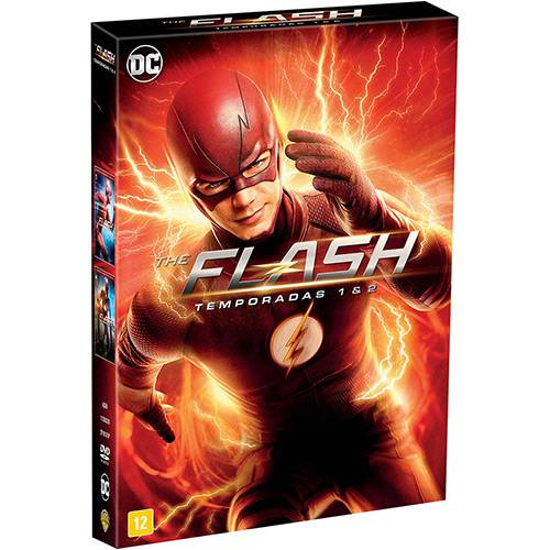 BOX DVD The Flash 1ª- 2ª Temporadas Completas (11 Discos)