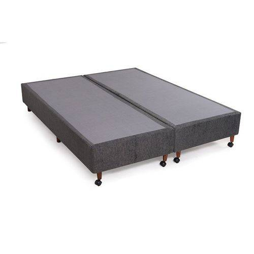 Box Luxo Rústico Cinza King (193x203x30)