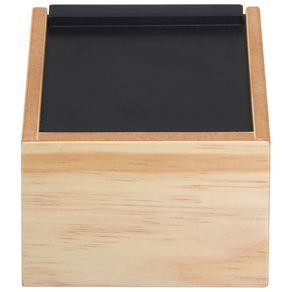 Box Studio Caixa 11 Cm X 11 Cm X 8 Cm Natural/preto