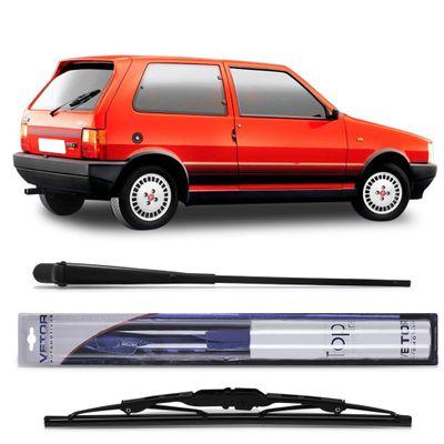 Braço do Limpador do Vidro Traseiro com Palheta - Fiat Uno 1984 a 1994
