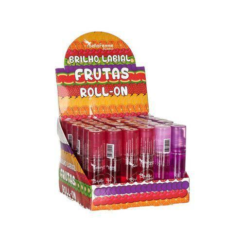 Brilho Labial Frutas Roll-on - Bella Femme - Caixa 36 Unidades