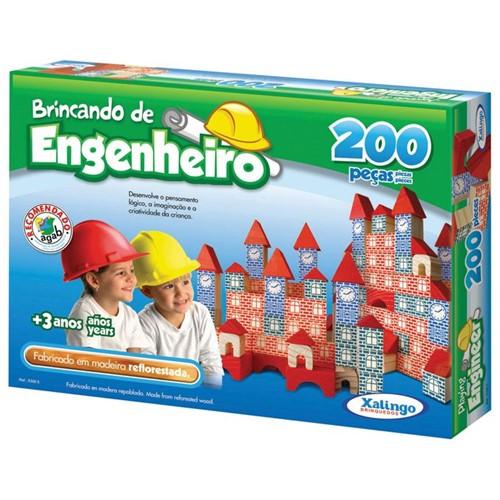 Brincando de Engenheiro 200 Peças - XALINGO
