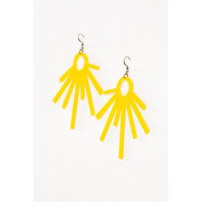 Brinco Acrilico Sol Amarelo - U