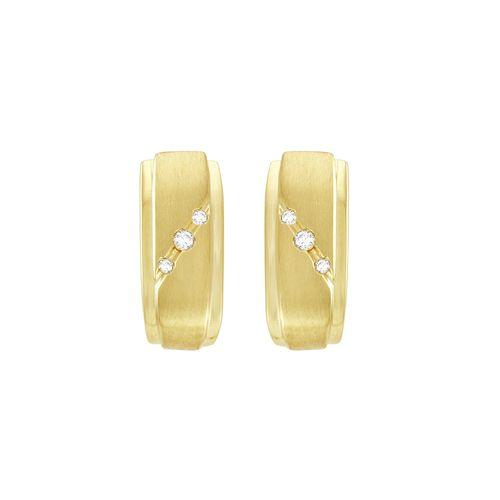 Brinco Argola em Ouro 18K com Diamantes - AU1219
