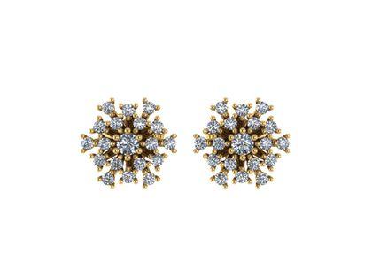 Brinco Clássicos de Diamantes Ouro Amarelo