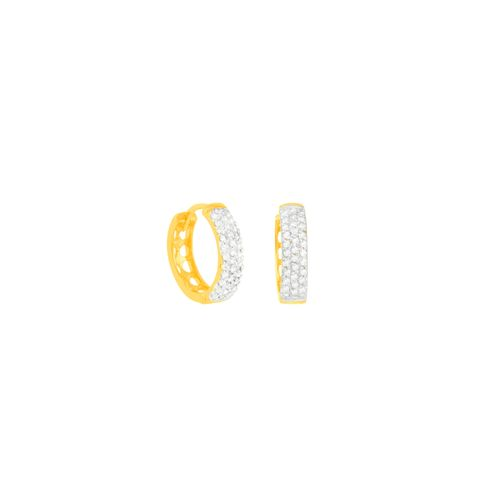 Brinco em Ouro 18K Argola com Diamantes - AU5394