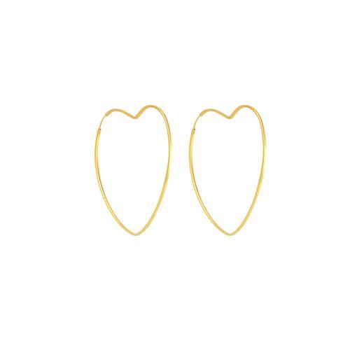 Brinco em Ouro 18K Argola Coração - AU5366