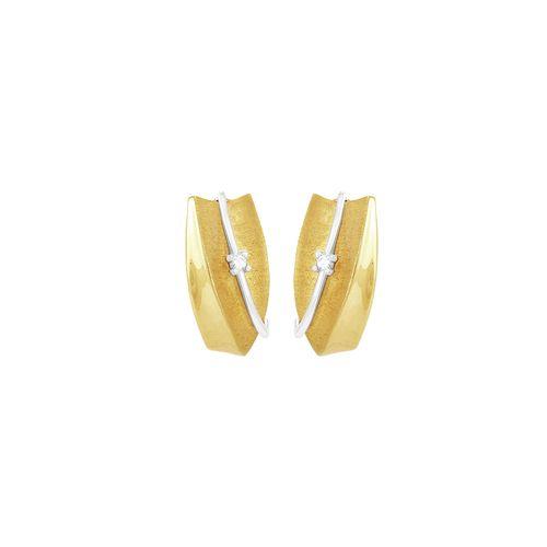 Brinco em Ouro 18K com Diamantes - AU1675 - Brinco Ouro 18K Diamantes