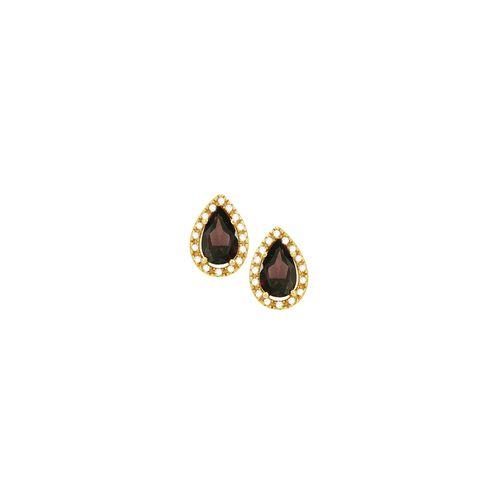 Brinco em Ouro 18K com Rodonita e Diamantes - AU3079