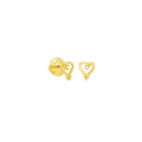 Brinco em Ouro 18K Coração e Diamantes - AU5070
