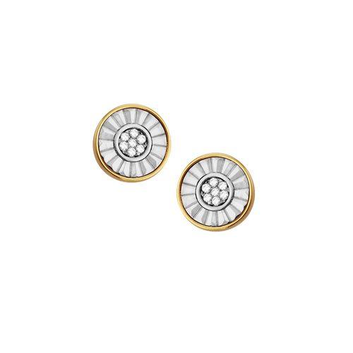 Brinco em Ouro 18K Dois Tons com Diamantes - AU1890