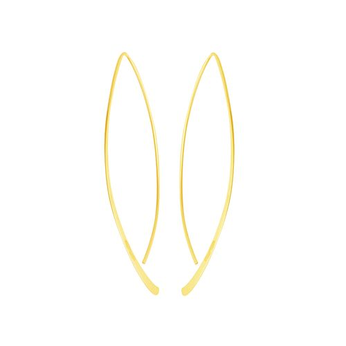 Brinco em Ouro 18K Fio Navete - AU5226