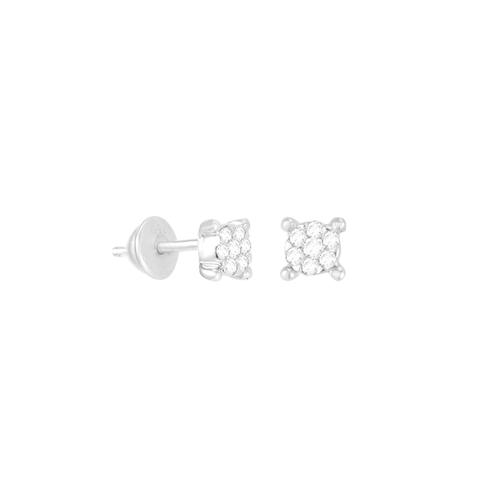 Brinco em Ouro Branco 18k com Diamante Full Cut - AU5677