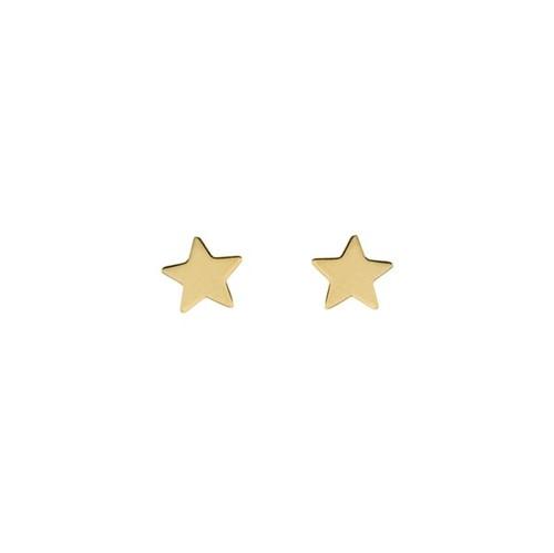 Brinco Estrela Ouro Amarelo 18K - Folk