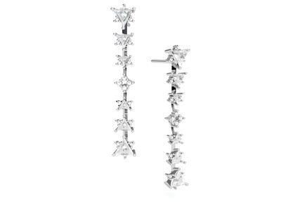 Brincos Siena com Diamantes e Topázios