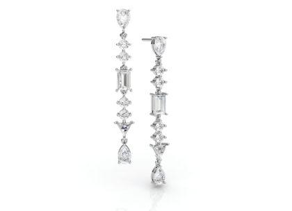 Brincos Verona com Diamantes e Topázios