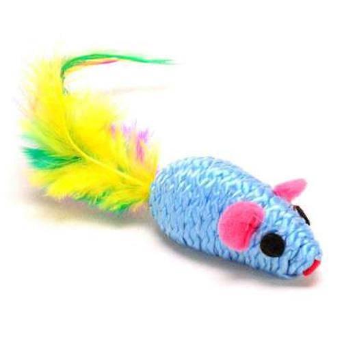 Brinquedo American Pets Ratinho Cat Toy com Penacho - 1 Unidade